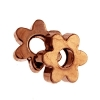 Metal Bead Scallop Washer 4mm Antique Copper (brass Base)